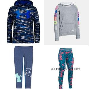 4pc Under Armour XS Leggings Small Hoodies